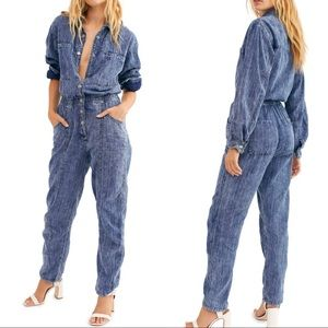 Free People • New Ari Button Up Coveralls